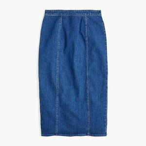 J. Crew Pencil Skirt in Stretch Denim Size 27